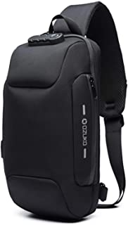 [OZUKO] ボディバッグ メンズ 斜めがけ ショルダーバッグ 大容量 防水 USBポート付き ワンショルダー 軽量 盗難防止 iPad収納可能