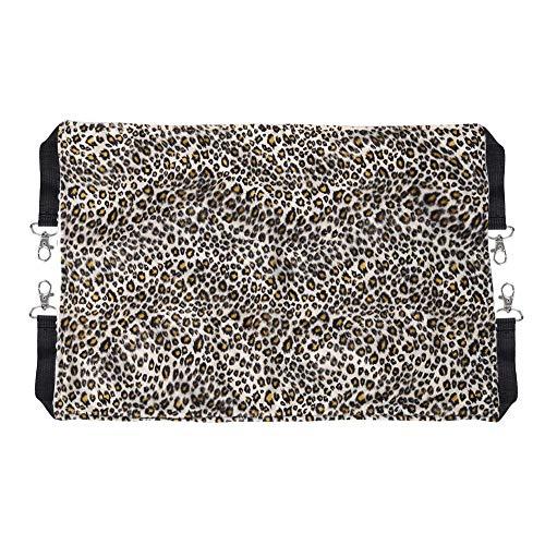 Huisdier hangmat, voor kat konijn hond ademend hangbed schommel deken (S-Leopard)