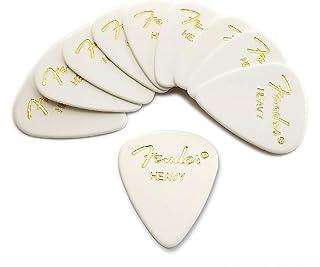 Fender ピック×10枚 ティアドロップ HEAVY-WHT