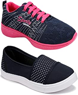 Shoefly Women Multicolour Latest Collection Sneakers Shoes- Pack of 2 (Combo-(2)-11032-1153)