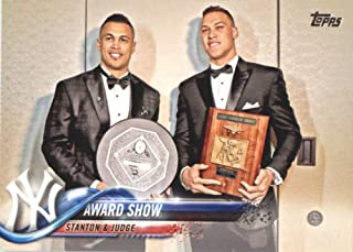 2018 Topps Baseball Series 2#389 Aaron Judge/Giancarlo Stanton New York Yankees Combo Cards (Checklist) Official MLB Tr