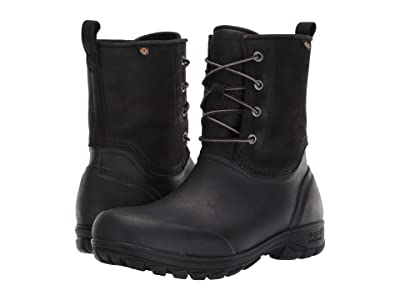 Bogs Sauvie Snow Leather (Black) Men