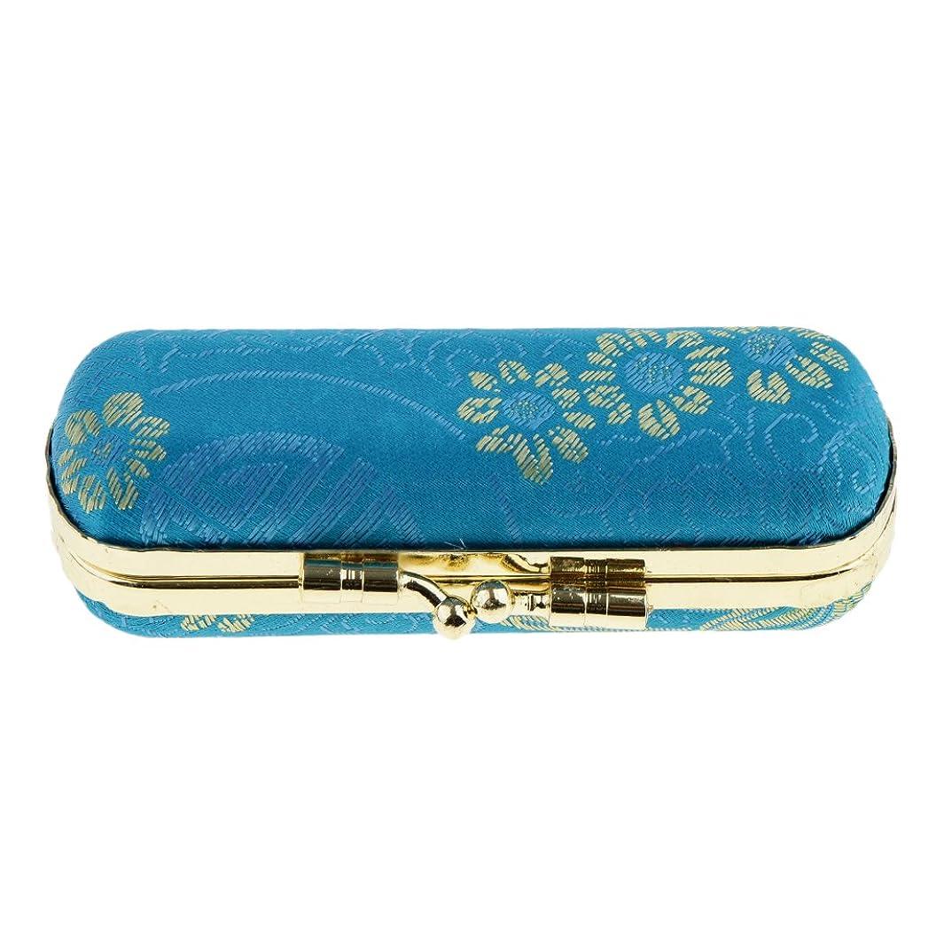 ランチョンリーフレット周囲Perfeclan リップスティックケース 口紅 リップグロスケース 収納ボックス ミラー付き 化粧鏡 化粧ポーチ 携帯用