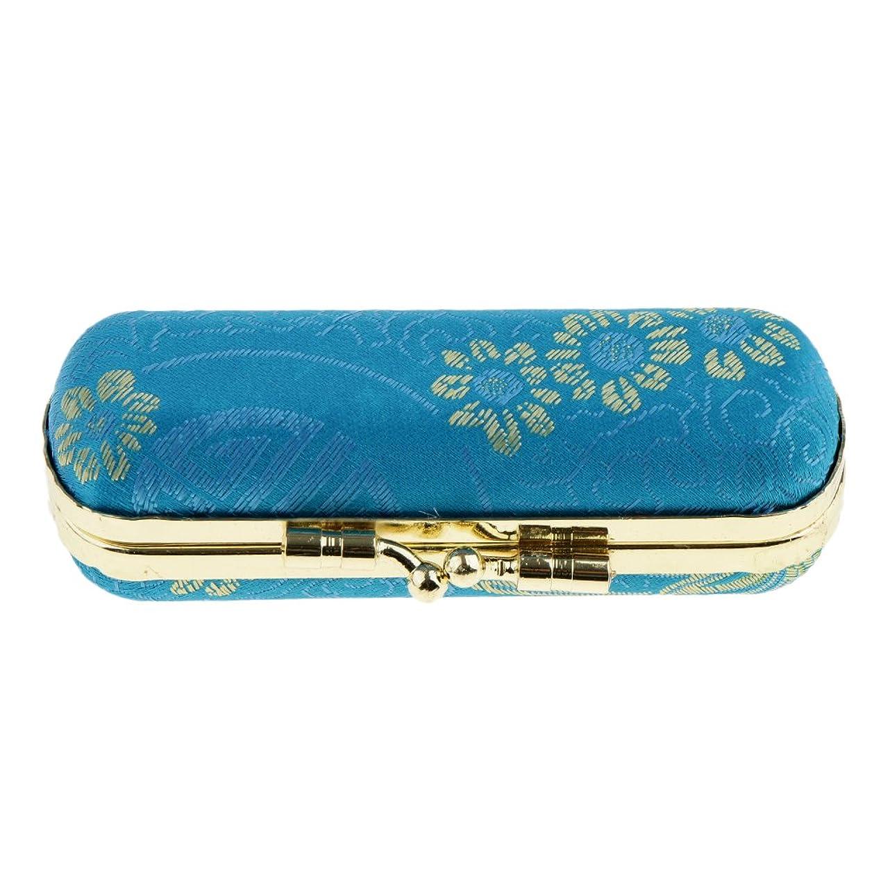 昇進石のおとなしいPerfeclan リップスティックケース 口紅 リップグロスケース 収納ボックス ミラー付き 化粧鏡 化粧ポーチ 携帯用