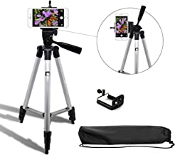 Syvo Adjustable Aluminium Alloy Tripod Stand Holder for Mobile Phones & Camera, 360 mm -1050 mm, 1/4 inch Screw + Mobile Holder Bracket