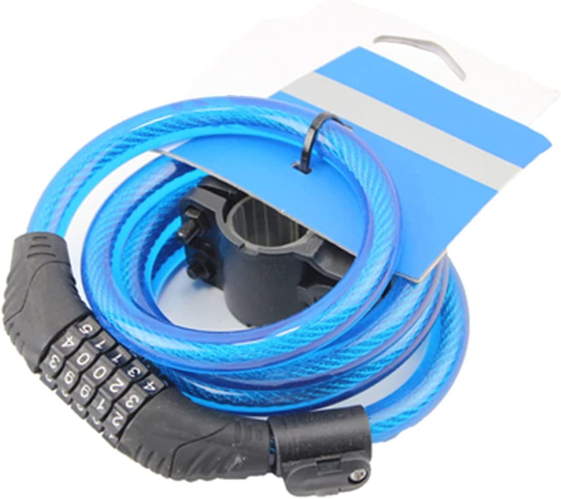 UFFD Max 78% OFF Bike Lock Cable 5 Popular shop is the lowest price challenge Password Digit Anti-Theft Bi Combination