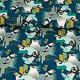 Baumwolljersey Madagascar Pinguine Kinderstoffe Lizenzstoff