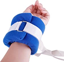 BIHIKI Control Limb Holder,4pcs Medical Restraints Patient Hospital Bed Limb Holders for Hands Or Feet Universal Constraints Control Quick Release (Blue)