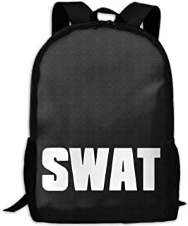 Mochila Escolar, Mochila de Viaje Mochila, Swat Interest Print Custom Unique Casual Backpack School Bag Travel Daypack Gift -