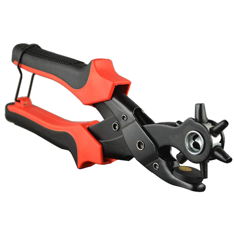 Revolving Leather Hole Punch Plier Leather Belt Cut Eyelet 6 Sizes Amtech B1400