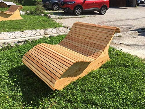 Holzliege Himmelsliege Doppelliege Waldsofa Lärchenholz Made in Bavaria 120cm Breite