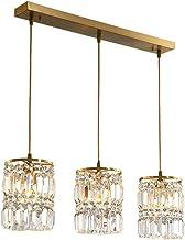 Postmodern Crystal Chandelier Simple Restaurant Lamp Bar Creative Nordic Copper Lamps E14x1/3 (Size : 68CM)