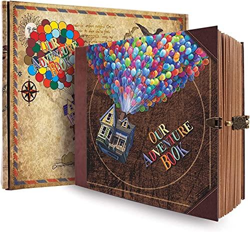 Scrapbooking Album Fotografico, Our Adventure Book Fotografico Retro Scrapbook Album Foto Fai Da Te album portafoto (22x19x2cm,146 Pagine) Scrapbook Adesivi