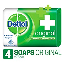 Dettol Original Soap, 75g (Pack Of 4)