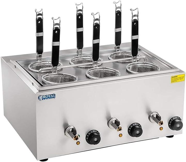 Cuocipasta a 6 cestelli - capacità 4 l royal catering - rcnk-6 B00VA5Q9BI