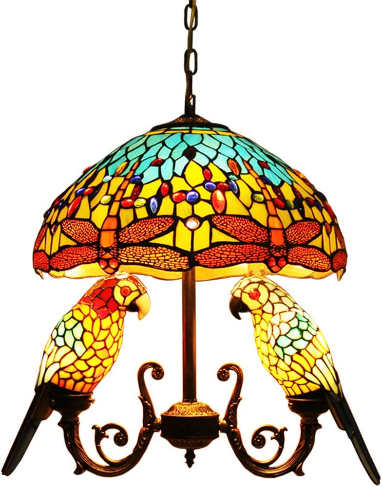Makenier favorite Tiffany Style Chandelier Light Hanging Ceiling Safety and trust Fixture