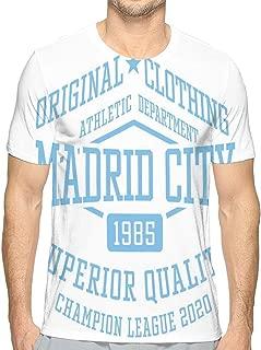 Men's Logo Crew Neck T-Shirt Madrid City Sport College Team Style Typography Poster Print
