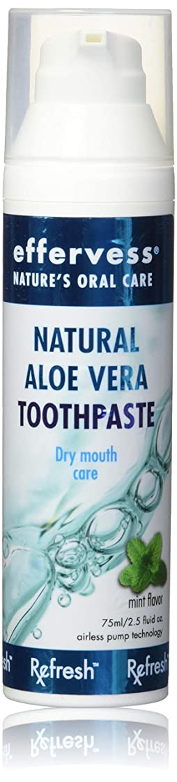 ディンカルビル蒸気忠実なEffervess Rx Refresh Natural Aloe Vera Toothpaste - Dry Mouth Care - Naturally Soothing & Moisturizing - Freshens Breath & Fights Cavities - Satisfaction Guaranteed by Effervess