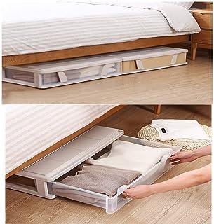 CAI Le Bois Solide de boîte de Rangement de ménage, tiroir Plat en Plastique sous Le lit habille des nécessités Quotidiennes