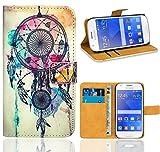 FoneExpert® Samsung Galaxy Ace 4 G357 G357FZ Handy Tasche, Wallet Hülle Flip Cover Hüllen Etui Ledertasche Lederhülle Premium Schutzhülle für Samsung Galaxy Ace 4 G357 G357FZ