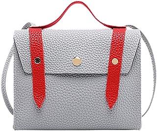 DIEBELLAU Women's Bag Shoulder Bag Fashion Simple Messenger Small Square Bag Large Capacity Crossbody Bag (Color : Gray)