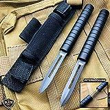 7.5' Interlocking Ninja Dual Blade Tactical Throwing Hunting Knife w/Sheath