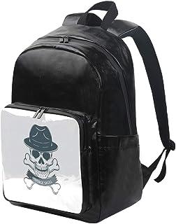 DEZIRO mochila de lona con calavera vintage, mochila de viaje, mochila plegable al aire libre, correas de hombro ajustables