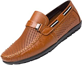 Men's British Style Hole Shoes Business Shoes Derby Shoes Oxford Lazy Peas Shoes Dress Shoe Leather Shoes Loafers