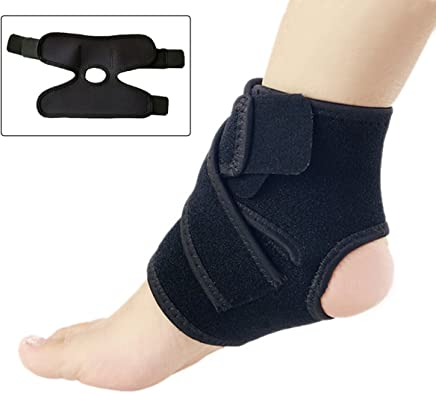 Ankle Support with Figure of 8 Strap, Wonepo Adjustable Breathable Neoprene Ankle Foot Brace Strap Stabilizer for Men and Women - Black
