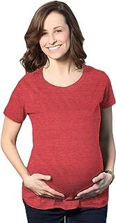 Women's Maternity Shirt Comfortable Pregnancy Tee Plain Blank I'm Pregnant Top