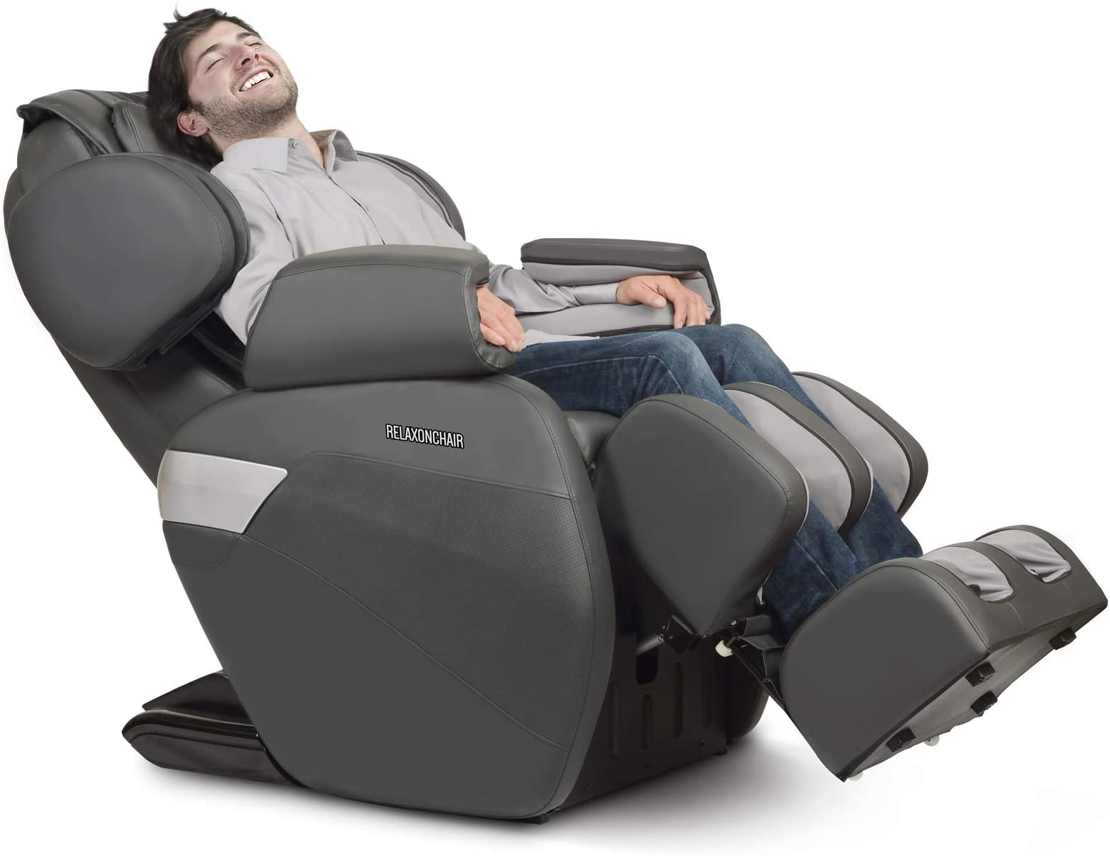 RELAXONCHAIR [MK-II Plus] Full Body Zero Gravity Shiatsu Massage Chair with Built-in Heat and Air Massage System - Charcoal (White Glove Delivery)
