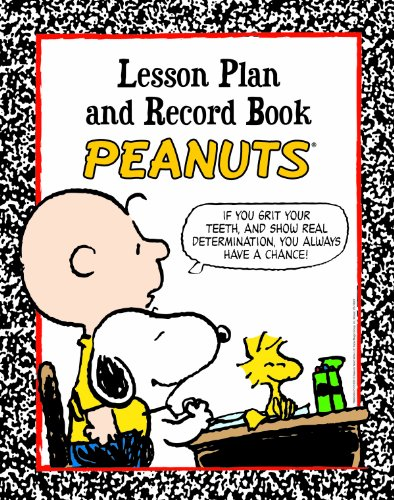 Eureka Peanuts Back to School Classroom Supplies Record and Lesson Plan Book for Teachers, 8.5'' x 11'', 40 Weeks