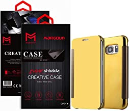 Margoun لهاتف Samsung Galaxy S6، G920FD, G920I, G9208 غطاء جراب مرآة قابل للطيور، وصول سريع للكاميرا الأمامية والخلفية