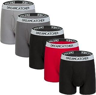 Dream Catcher Mens Underwear Boxer Briefs Cotton Boxer Briefs Underwear Men Pack Open Fly S-XXL