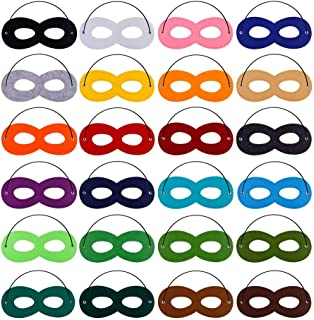 32pcs Superhero Felt Masks for Kids Party Cosplay Superhero Masks with Elastic Rope Party Favors Mask for Birthday Gifts