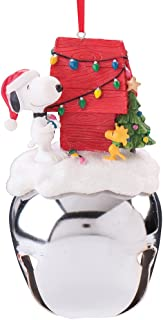 Peanuts Snoopy and Woodstock Extra Large Jingle Bell Christmas Ornament