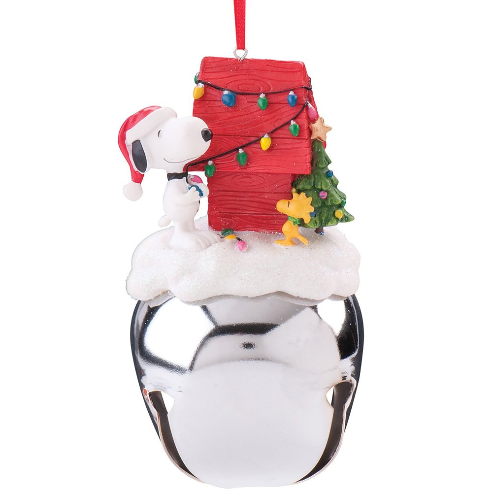 Image of Cute Extra Large Jingle Bell Snoopy Christmas Ornament