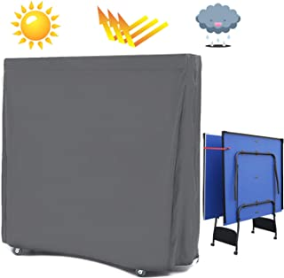 AKEfit Waterproof Table Tennis Cover for Folding Ping Pong Table Ourdoor&Indoor Fit for Most Tables Design with Zipper 60