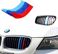 lanyun M Color Kidney Grille Insert Trims Cover for BMW E90 E91 3 Series (09-12 E90 E91 3 Series 12-Beam Grille Insert)