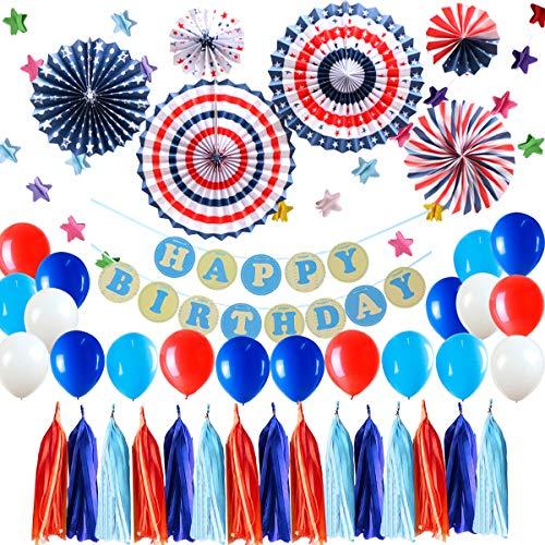 Globos Blancos y Azules Rojos Azul Claro Globo Kit de Guirnalda,Herramienta para Cumpleaños Graduaciones Superhéroe Decoración de Fiesta Temática,Cumpleaños de Niño Fiesta de Superman