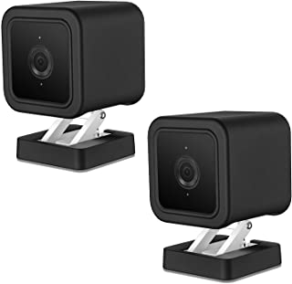 HOLACA Silicone Skins Protective Case/Cover for Wyze Cam v3 Indoor/Outdoor Camera(2-Pack, Black)