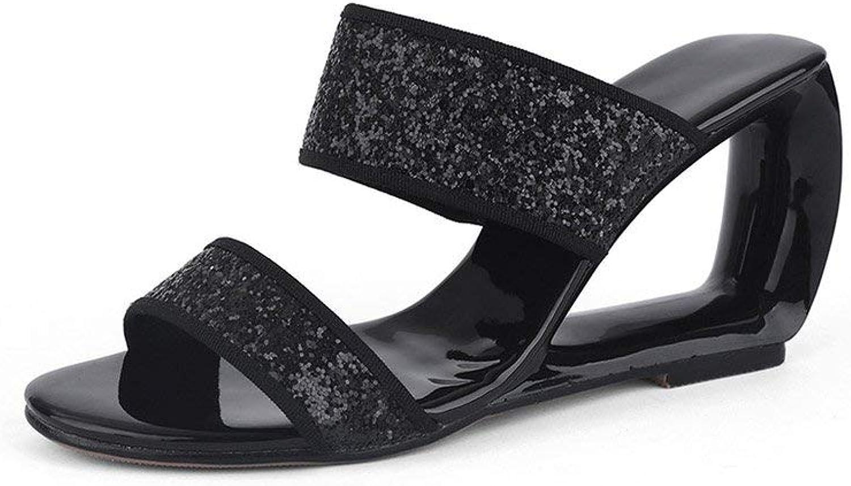 Leather High Heels Ladies Slippers Slides Footwear Women Mules shoes