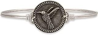   Hummingbird Bangle Bracelet for Women - Brass Tone Size Regular Made in USA