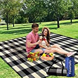 Yoversifo Outdoor Picnic Blanket, Picnic Blanket Waterproof Foldable with 3 Layers Material,Extra Large Picnic Mat Beach Blanket 80'x80' for Park Camping Festivals Hiking Travelling,Thicker & Larger
