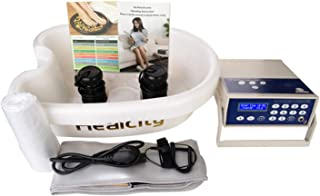 Ionic Foot Bath Detox Machine Negative Hydrogen System by Healcity with Professional Tub Basin 10 Liners Holiday Gift