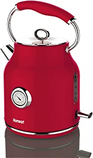 Homeart Electric Kettle, Stainless Steel, Stylish, 1.7 Liter, Red