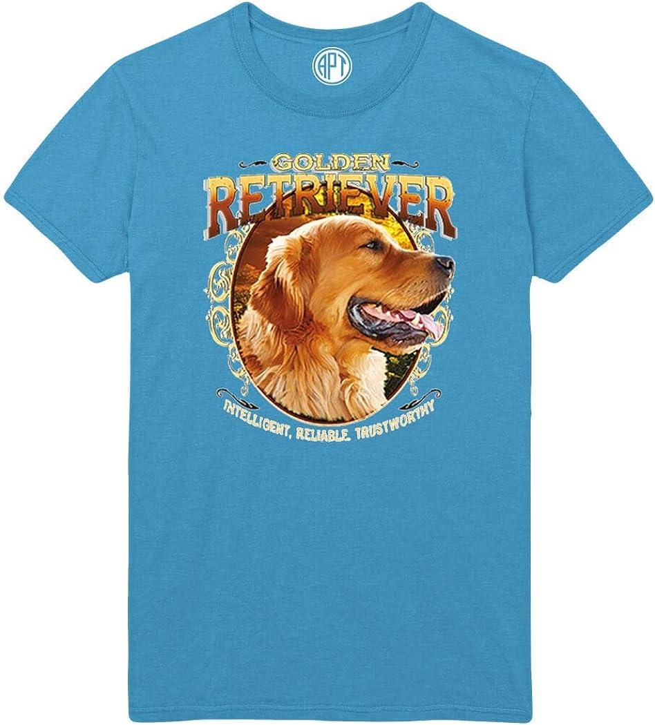 Golden Retriever Intelligent, Reliable, Trustworthy Printed T-Shirt