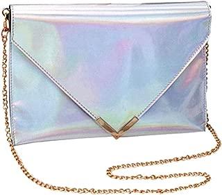 Sherry Shoulder Bag Fashion Women Holographic Envelope Clutch Handbag Chain Crossbody Bag Tote Purse