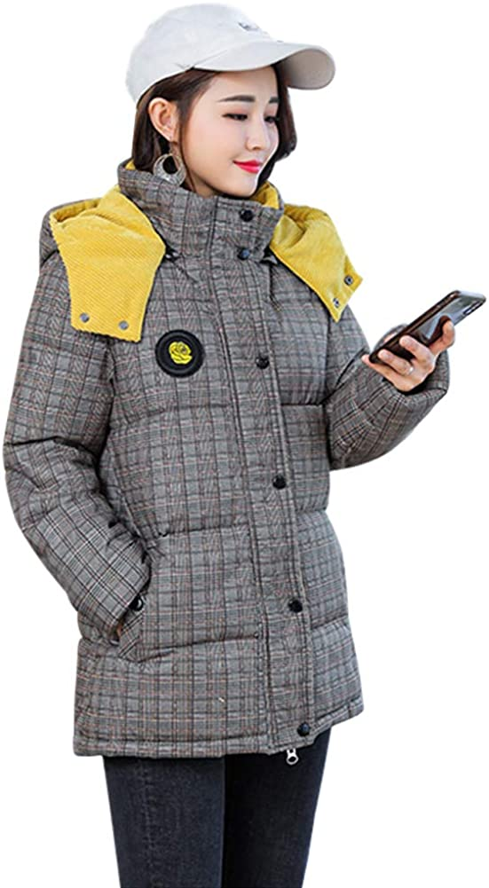 Yudesun Winter Warm Hooded Coats Down Cotton Jackets Quilted Puffer Parkas