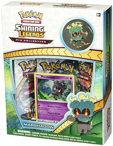Pokemon Sun & Moon 3.5 Shining Legends Marshadow Pin Collection